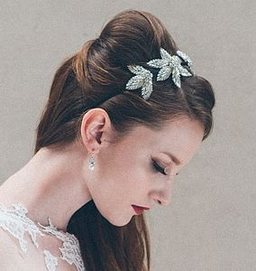 Aurora Crystal Bridal Headband Side Tiara