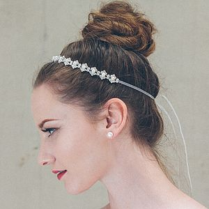Carmen Pearl And Crystal Wedding Headband