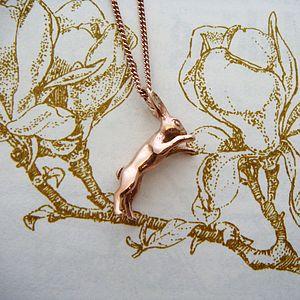Boxing Hare Necklace