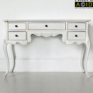 Classic Five Drawer Dressing Table