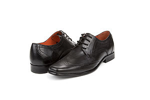 Harris Black Leather Grooms Shoes