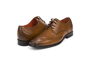 Harris Tan Leather Grooms Shoes