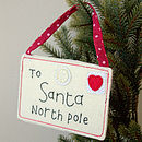 To Santa North Pole