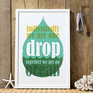 'Together We Are An Ocean' Graphic Art Print - posters & prints