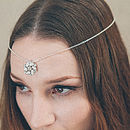 Ophelia Silver Wedding Circlet Forehead Band