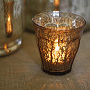 Luxe Mercury Gold Tea Light Holder