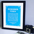 Artwork in Barrier reef blue with a black frame
