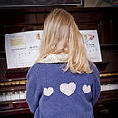 Cashmere Cardigan With Hearts On The Back