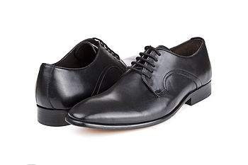 Oliver Black Leather Wedding Shoes