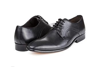 Oliver Black Leather Wedding Shoes