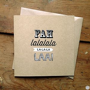 'Falala' Design Craft Christmas Card - christmas cards