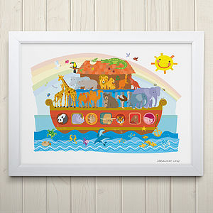 Noah's Ark Fine Art Print - children's room