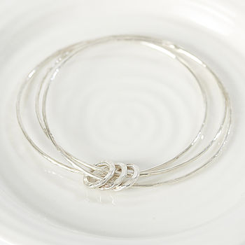 Sterling Silver Triple Ring Bangle