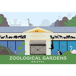 Bristol Zoo Print - architecture & buildings