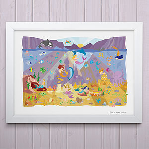 Mermaid Lagoon Fine Art Print