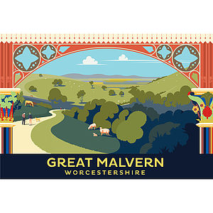 Great Malvern Station Worcestershire Print - shop by price