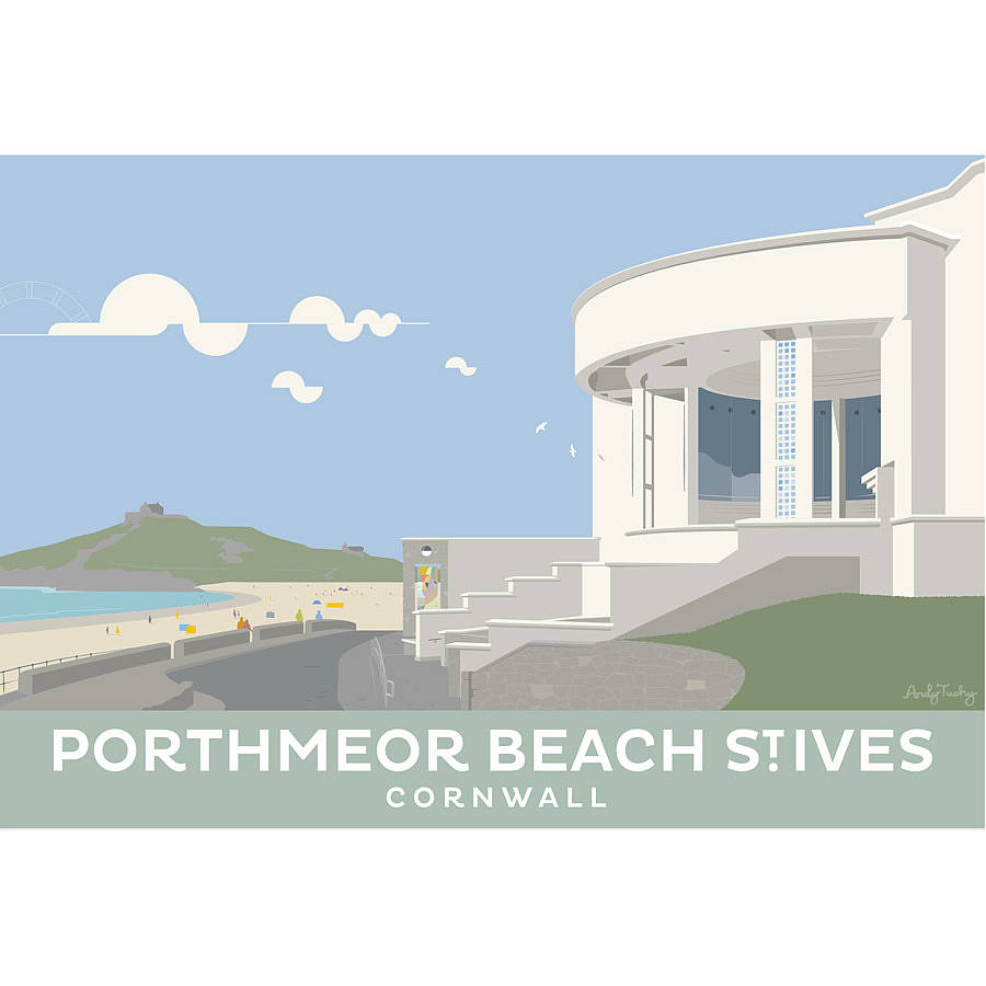 Comwall Pictures Design : tate st.ives cornwall print by andy tuohy design  notonthehighstreet ...