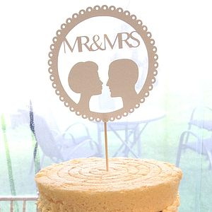 Personalised Silhouette Cake Topper - room decorations