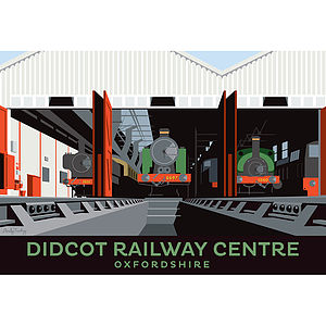 Didcot Railway Centre Oxfordshire Print - architecture & buildings