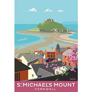 St.Michael's Mount Cornwall Print - posters & prints