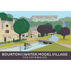 Bourton On The Water Cotswolds Print - architecture & buildings