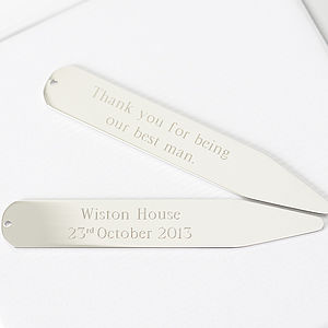 Personalised Collar Stiffeners - men's jewellery