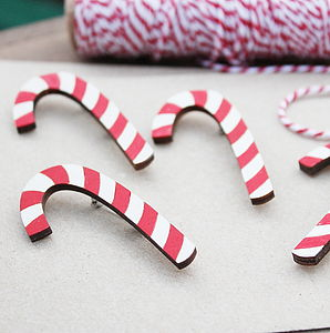 Candy Cane Brooch - pins & brooches