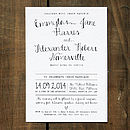 Calligraphy Wedding Invitation - Black on White