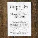 Calligraphy Wedding Invitation - Black on White