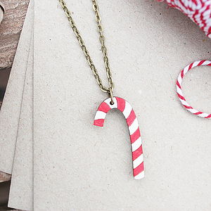 Candy Cane Necklace - necklaces