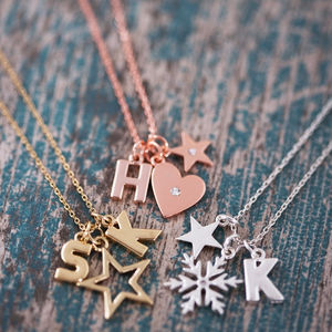 Design Your Own Chunky Letter Necklace - best personalised gifts