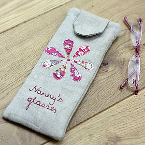 Personalised Glasses Case Flowers - bags & purses