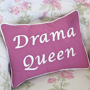 'Drama Queen' Handmade Cushion - patterned cushions