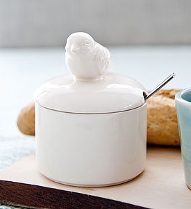 Ceramic Bird Sugar Bowl - gifts for foodies