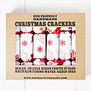 Recycled Snowflakes White Christmas Crackers