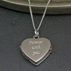Solid Silver Heart Locket - necklaces & pendants