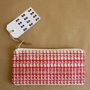 'Number Crunch' Printed Canvas Slimline Pencil Case