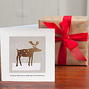 Personalised 'Winter Reindeer Christmas Card'