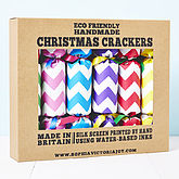 Recycled Chevron Christmas Crackers - christmas decorations