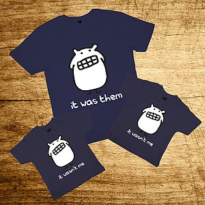Father And Kids T Shirt Set - clothing