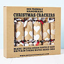 White Heart Brown Christmas Crackers