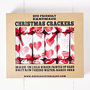 Red Heart White Christmas Crackers