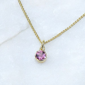 Pink Tourmaline Pendant In Ethical 18ct Gold - necklaces & pendants