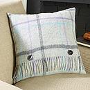 Grey Pastel Windowpane Cushion