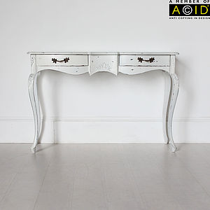 Ripple Two Drawer Console Or Dressing Table - furniture