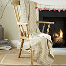 Natural Spot Lambswool Throw