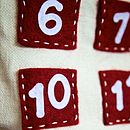 Two In One Pocket Advent Calendar And Santa Sack