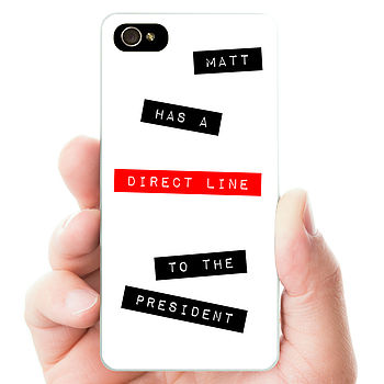 Personalised 'Direct Line' Hard Phone Case