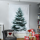 Photographic Christmas Tree Wall Hanging