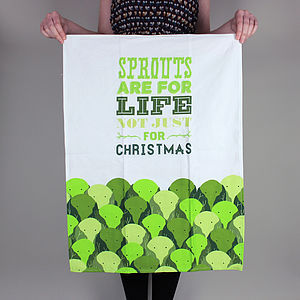 Christmas Sprout Tea Towel